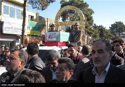 مراسم وداع و تشییع شهید مدافع حرم سعید علیزاده در دامغان