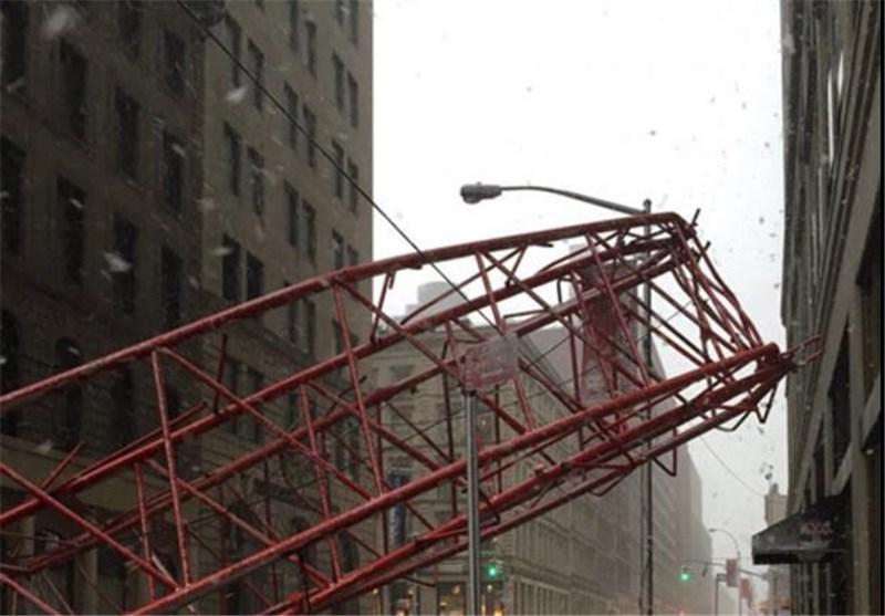 سقوط جرثقیل در نیویورک قربانی گرفت + عکس