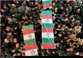 پیکر مطهر 9 شهید گمنام و یک شهید مدافع حرم به کرمان وارد شد