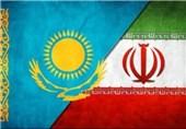 پرچم ایران و قزاقستان