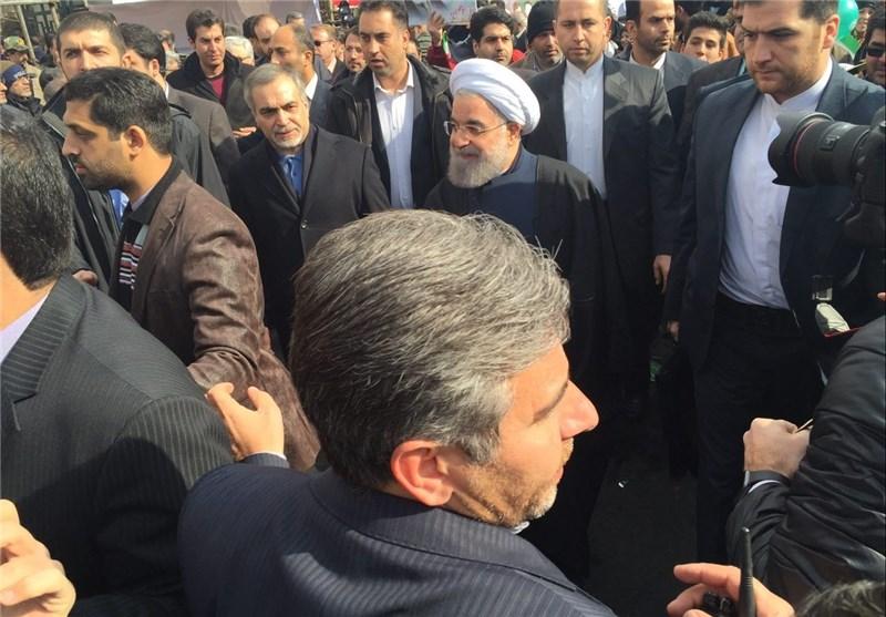 رئیس الجمهوریة : ماضون لتحقیق ذات الاهداف التی انطلقت لأجلها الثورة الاسلامیة فی 11 شباط 1979