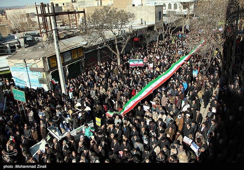 راهپیمایی 22 بهمن در میانه