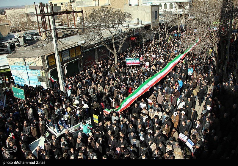 مسیرات ذکرى انتصار الثورة الاسلامیة رد مزلزل على تهدیدات امریکا