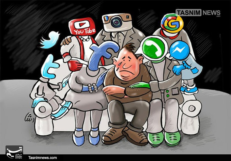 تلگرام کاریکاتور/ معضلات خانواده و شبکههای اجتماعی - خبرگزاری ...