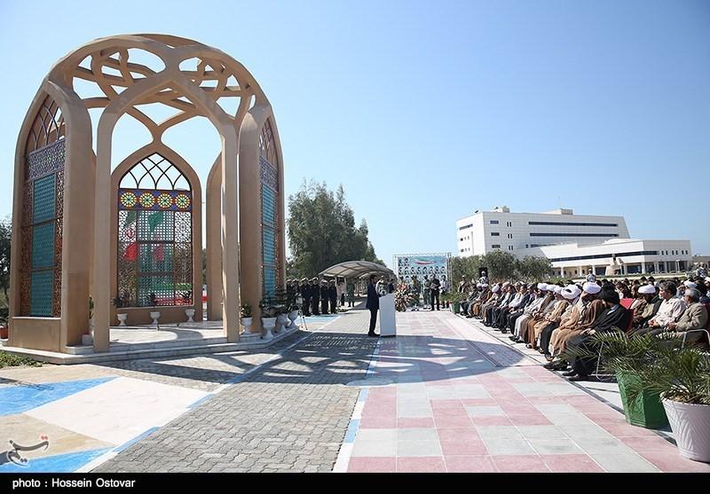 رونمایی از یادمان شهدای گمنام نیروگاه اتمی بوشهر