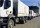 سومین محموله کمکهای انسانی به شهر تلبیسه در مرکز سوریه وارد شد