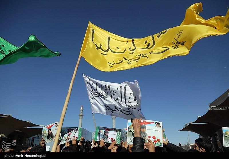 تشییع پیکر 8 شهید مدافع حرم از تیپ زینبیون