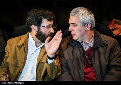 ابراهیم حاتمیکیا کارگردان و احسان محمدحسنی تهیهکننده فیلم بادیگارد