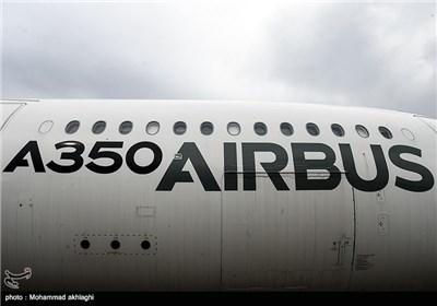 فرود نخستین هواپیمای ایرباس 350 در فرودگاه مهرآباد