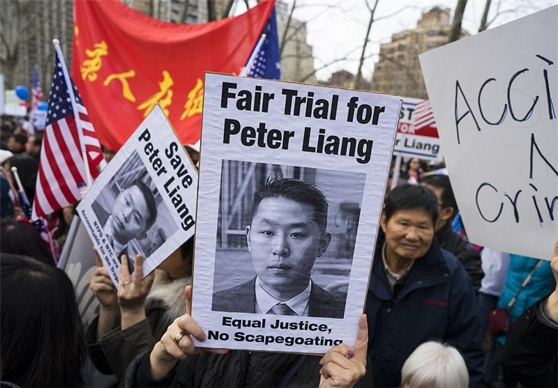 Thousands Protest in New York over Asian-American Cop's Manslaughter Conviction