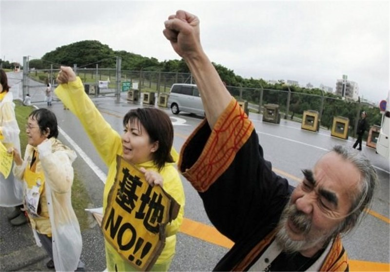 Thousands Surround Japan's Parliament in Protest against US Military Base in Okinawa