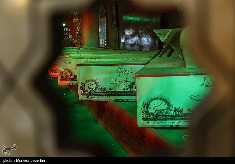 مراسم وداع با پیکر 68 شهید تازه تفحص شده در اهواز