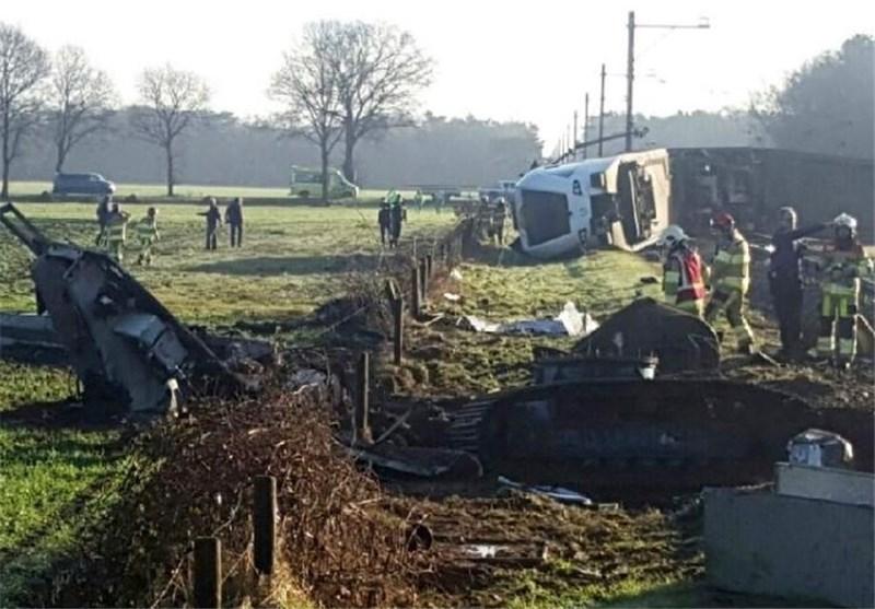 خارج شدن قطار از ریل در هلند