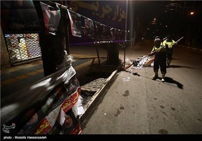 نظافت شهر پس از پایان زمان تبلیغات انتخابات مجلس و خبرگان رهبری