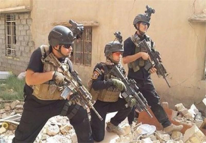 الإعلام الحربی العراقی یعلن وصول فوج من قوات مکافحة الإرهاب الى سایلو خان ضاری غرب بغداد