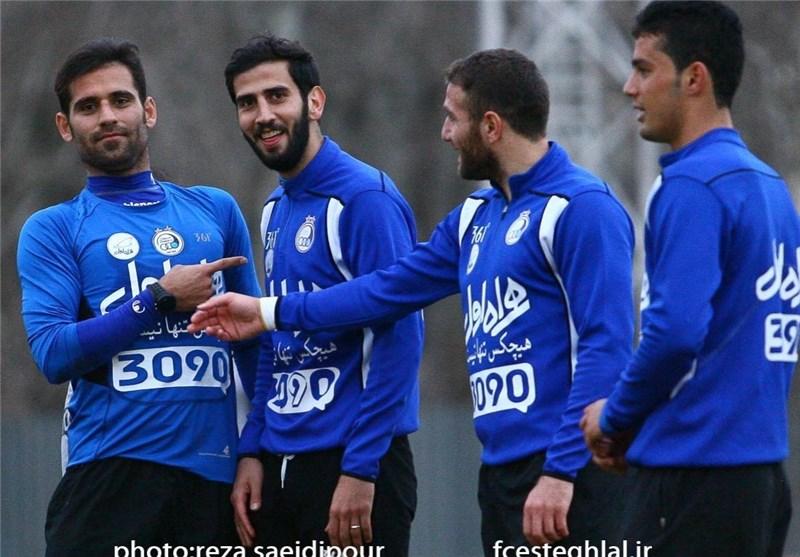 تمرین استقلال و حاج محمدی و میثم مجیدی