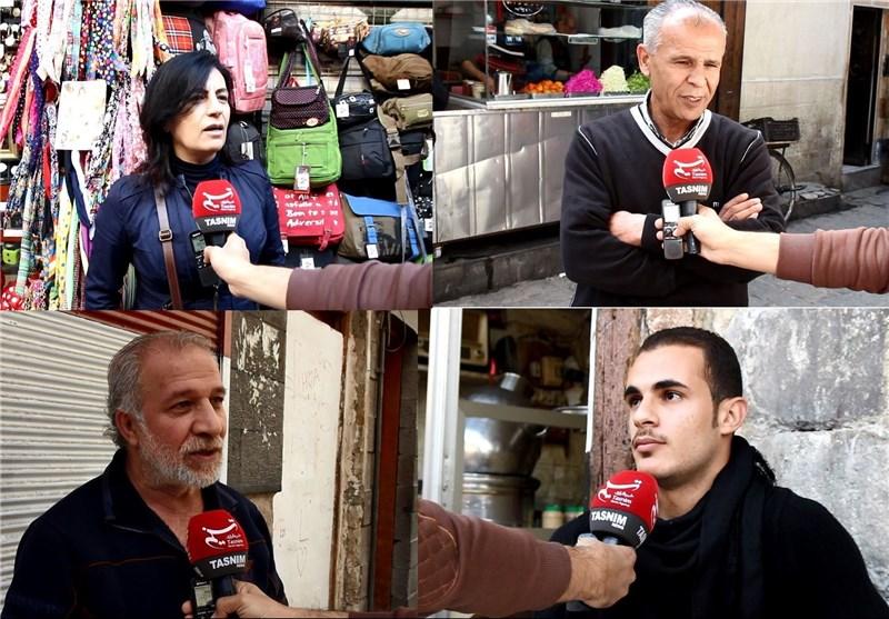 «تسنیم» تستطلع آراء الشارع السوری حول وقف إطلاق النار+ فیدیو
