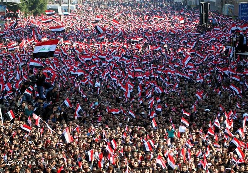 شادی طرفداران صدر در میدان التحریر بغداد