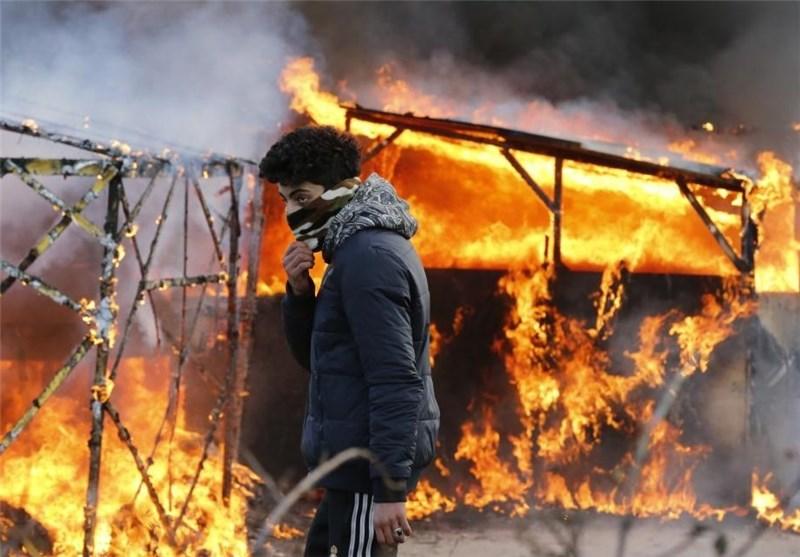 آتشسوزی کمپ پناهجویان کاله