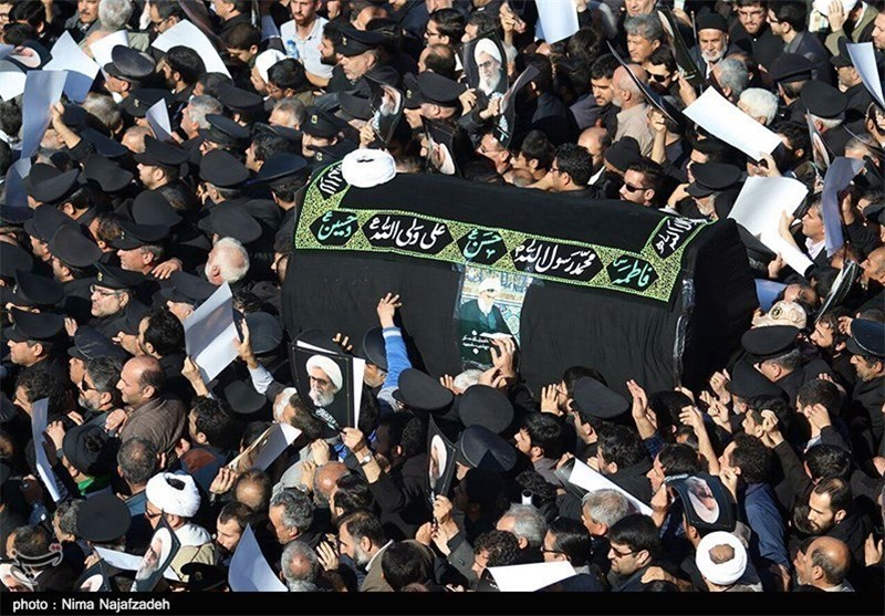 Funeral Service Underway in Mashhad for Top Iranian Cleric