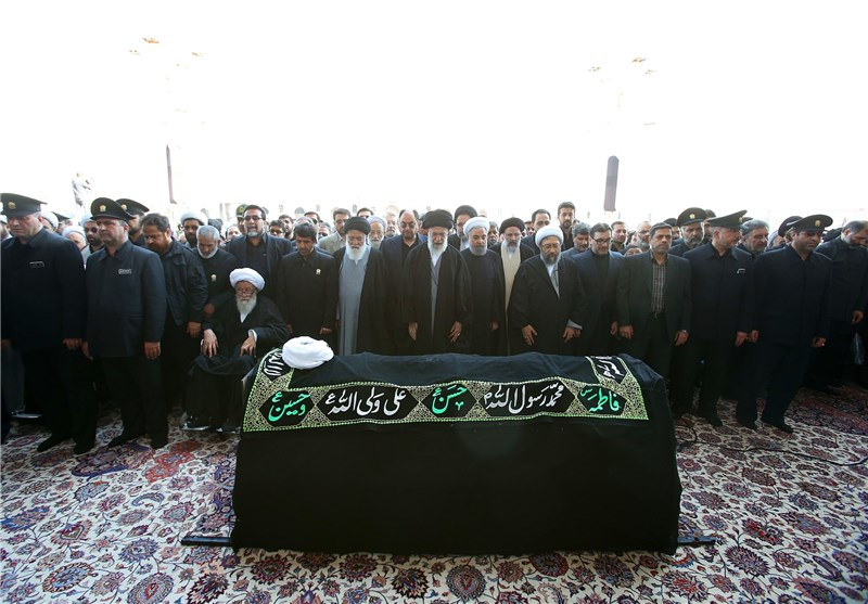 Leader Performs Prayers as Funeral Held for Late Cleric in Mashhad
