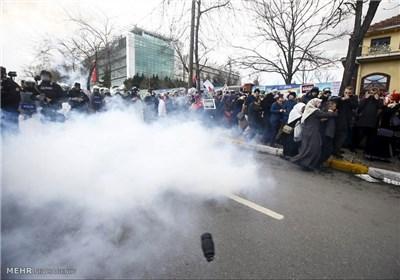 پلیس ترکیه تظاهرات حمایت از کُرد ها در آنکارا را سرکوب کرد