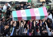 پیکر پاک جانباز دفاع مقدس در هفتگل تشییع شد
