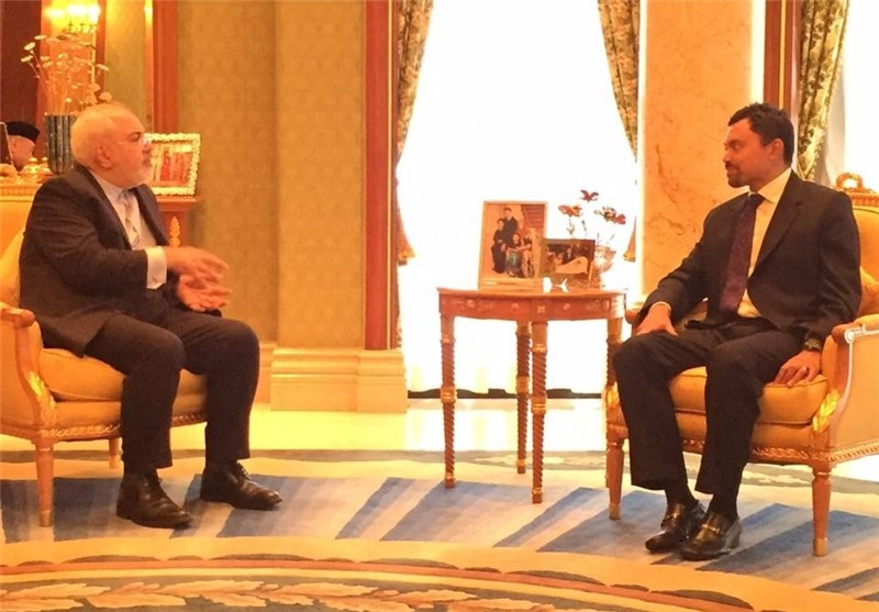 Iran's FM Zarif Meets Brunei's Crown Prince