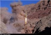 لحظه شلیک موشکهای بالستیک قدر H و F از ارتفاعات البرز + تصاویر