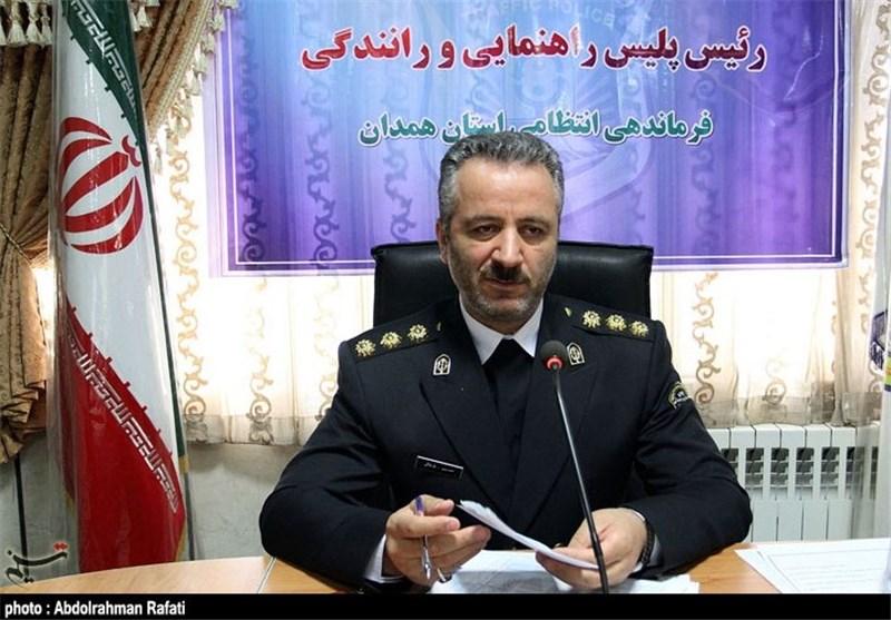 حسین طلایی رئیس پلیس راهور همدان