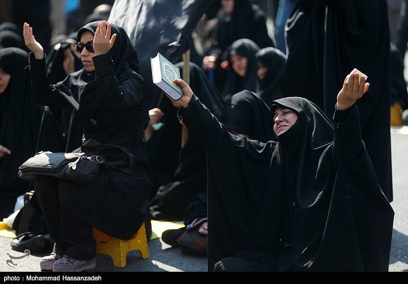 اجتماع عزاداران فاطمی در میدان هفت تیر