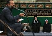 صوت و تصاویر/سخنرانی حجت الاسلام عالی و مداحی محمود کریمی در بیت رهبری، فاطمیه 95