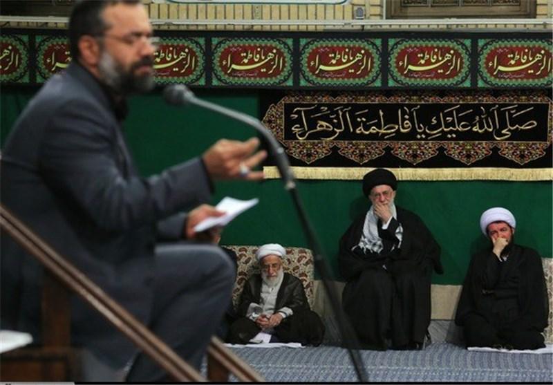 مداحی محمود کریمی در حضور رهبر انقلاب + صوت