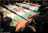 8 شهید گمنام در4 نقطه از استان تهران خاکسپاری شدند