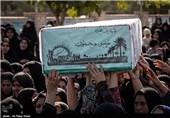 تشییع شهدای گمنام در لامرد