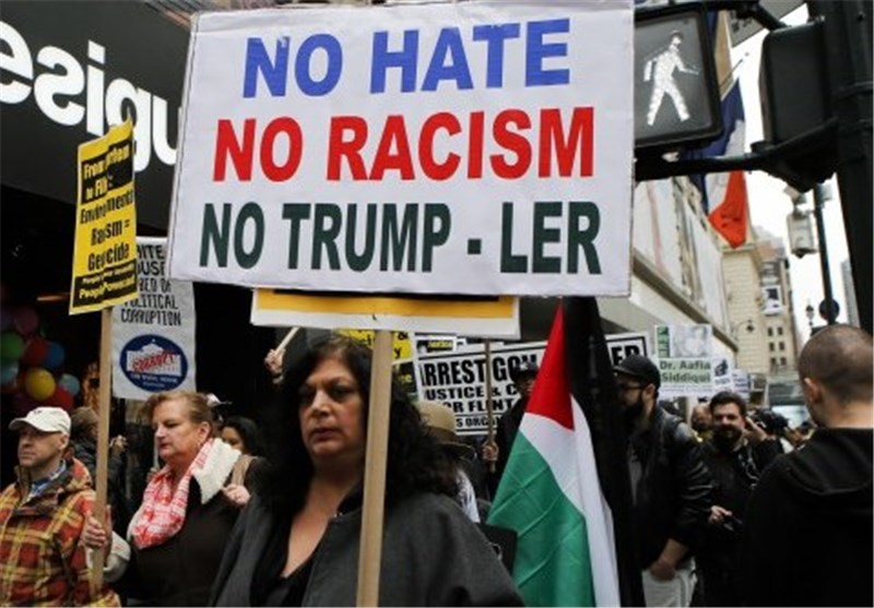 Activists in New York Protest against Trump's Anti-Muslim Remarks