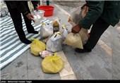 اهدای سبد کالا به بیماران صعب العلاج در مشهد