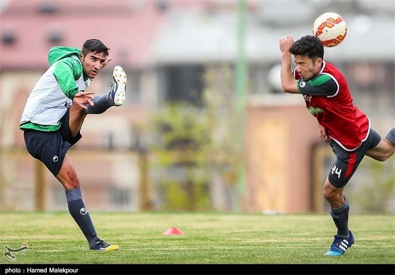 مهرداد محمدی - راهآهن - تمرین تیم ملی