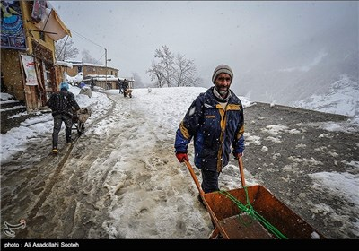 Iran's Masouleh Village Covered in Snow ahead of New Year