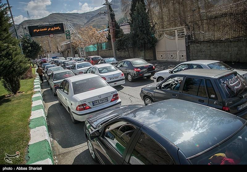 ترافیک سنگین در محور کرج- چالوس