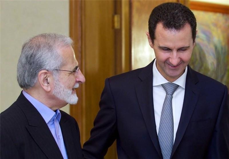 الرئیس الأسد یستقبل رئیس المجلس الاستراتیجی للعلاقات الخارجیة فی مکتب الامام الخامنئی