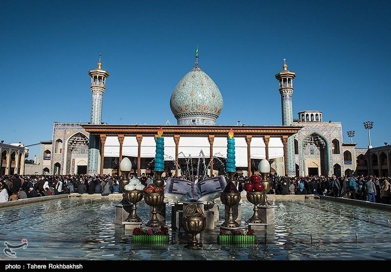 سال تحویل در حافظیه و شاهچراغ شیراز