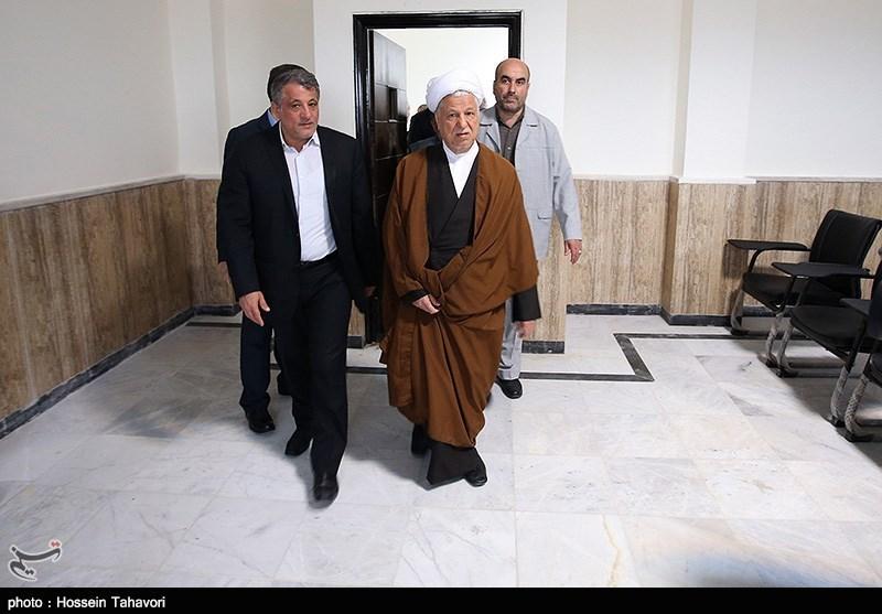 افتتاح ساختمان دانشگاه آزاد کیش با حضور هاشمی رفسنجانی