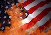آتش در پرچم آمریکا