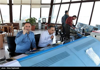 برج مراقبت فرودگاه هاشمینژاد مشهد در ایام نوروز