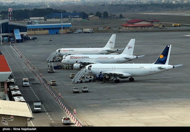 باند فرودگاه مشهد برای پروازهای خروجی باز شد