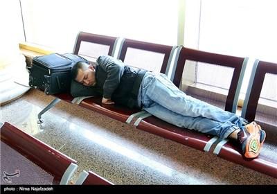 مسافران نوروزی در فرودگاه هاشمینژاد مشهد