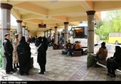 مسافران نوروزی در پایانه مسافربری کاوه اصفهان