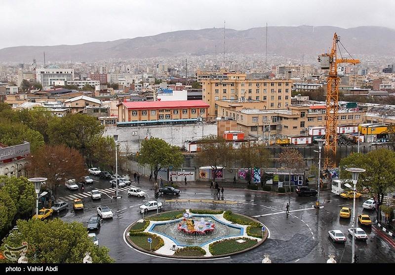 بارش باران بهاری در تبریز