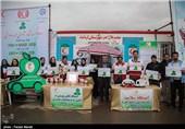 ارائه پنچ خدمت سلامت محور و فرهنگی در چادرهای جوانان هلال احمر
